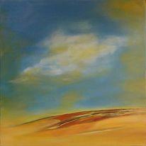 Acrylmalerei, Wüste, Sahara, Sand
