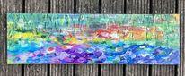 Monet, Blumen, Seerosen, Abstrakt