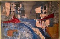 Strukturpaste, Spachteltechnik, Malerei abstrakt, Malerei