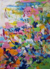 Harmonie, Blumenlandschaft, Atmosphäre, Malerei