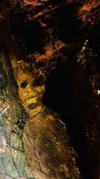 Dunkel, Gestalt, Malerei,