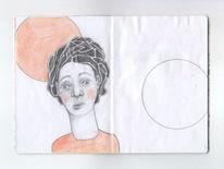 Zeichnung, Schwarz, Weiß, Figur