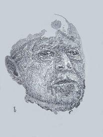 Schwarzweiß, Portrait, Kopf, Zeichnungen