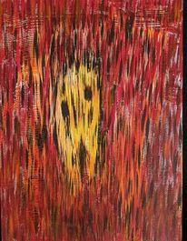 Acrylmalerei, Feuer, Menschen, Malerei