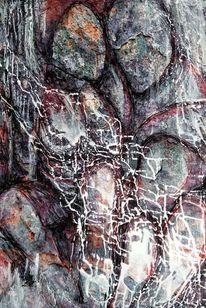 Abstrakt, Menschen, Malerei, Mixed media