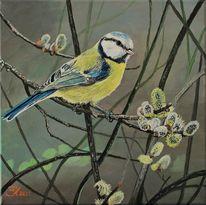 Tiere, Acrylmalerei, Vogel, Malerei