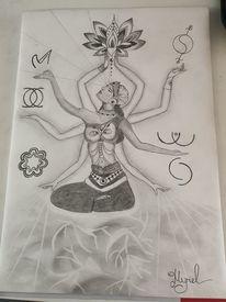 Shakti, Energiebild, Göttliche mutter, Zeichnungen