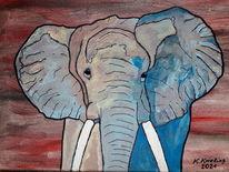 Bunt, Fantasie, Malerei, Elefant