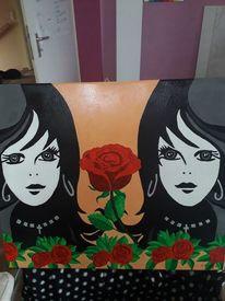 Zwillinge, Glück, Malerei
