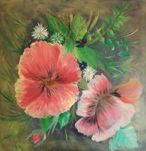 Acrylmalerei, Blumen, Malerei, Blumenstrauß