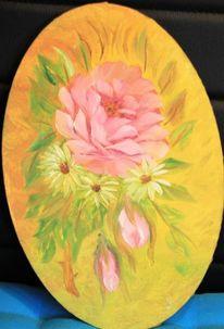 Blumen, Ölmalerei, Rose, Malerei