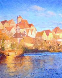 Landschaft, Modern art, Ölmalerei, Landschaft malerei