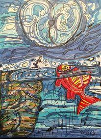 Fisch, Wasser, Junge, Seelenverwandtschaft