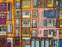 Fassade, Mittelmeer, Häuser, Fenster