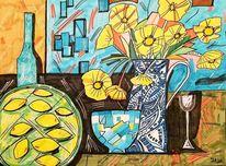 Glas, Blumen, Flasche, Vase