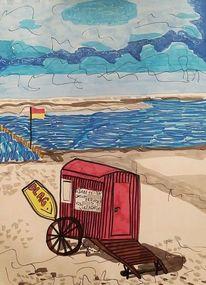 Strand, Sand, Dlrg, Borkum