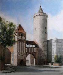 Jüterbog, Stadtansicht, Zinnaer, Malerei marcel heinze