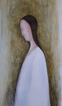 Frau, Acrylmalerei, Profil, Malerei