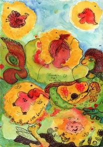 Seele, Intuitive, Farben, Zeichnungen