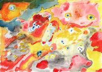 Intuitive, Farben, Seele, Aquarell