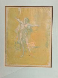 Frau, Aquarellmalerei, Engel, Pinnwand