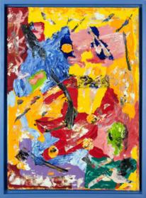 Abstrakt, Ölfarben, Kunstwerk, Mischtechnik