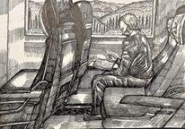 Menschen, Landschaft, Portrait, Zeichnungen