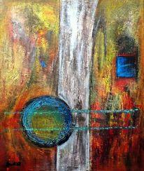 Acrylmalerei, Blue window, Malerei,