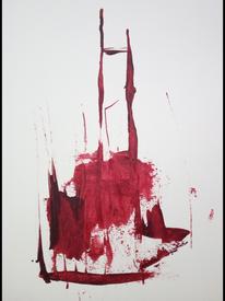 Rot, Dynamik, Verwischen, Malerei