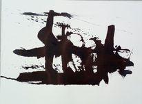 Schwarz, Struktur, Dicht, Malerei