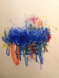 Wolken, Bunt, Vermischen, Malerei