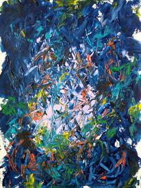 Durcheinander, Urwald, Licht, Malerei