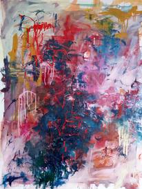 Zerlaufen, Bewegung, Bunt, Malerei