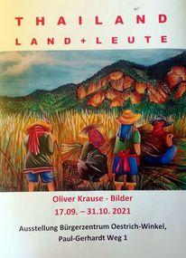 Landschaft, Menschen, Pinnwand, Ausstellung