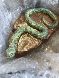 Ton, Schlange, Echse, Salamander