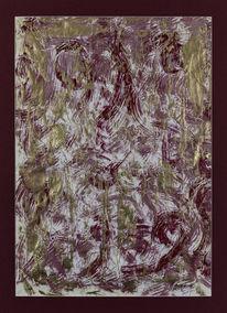 Malerei, Rot, Abstrakt, Intuition