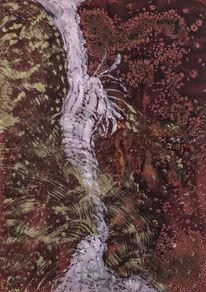 Malerei, Ausdrucksmalerei, Gold, Intuition