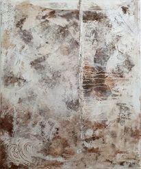 Collage, Abstrakt, Naturmaterialien, Erdtöne
