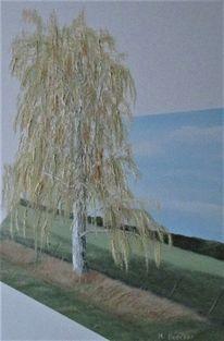 Landschaft, Malerei, Ölmalerei