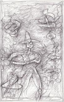 Abstrakt, Figur, Menschen, Expressionismus