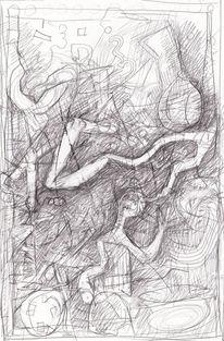 Surreal, Abstrakt, Expressionismus, Zeichnungen