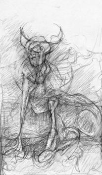 Tiere, Abstrakt, Expressionismus, Zeichnungen