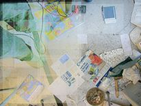 Expressionismus, Detailansicht, Abstrakt, Digitale kunst