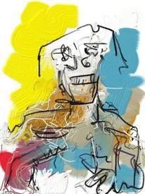 Portrait, Kopf, Expressionismus, Abstrakt