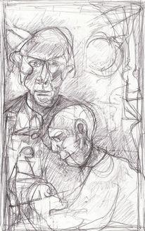 Kopf, Spontan, Expressionismus, Figur