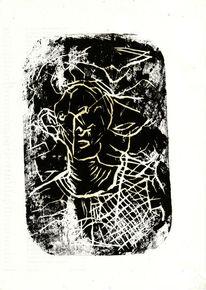 Abstrakt, Kopf, Figur, Portrait