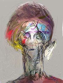 Abstrakt, Menschen, Expressionismus, Digitale kunst