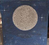 Mond, Universum, Weltall, Malerei