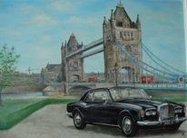Bentley, London, Auto, Malerei
