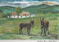 Irland, Esel, County kerry, Aquarell